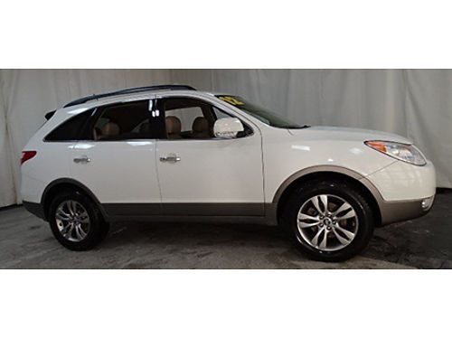 12 HYUNDAI VERACRUZ Only 47000 Miles One Owner Factory Warranty 3rd Row Leather Moonroof Se H