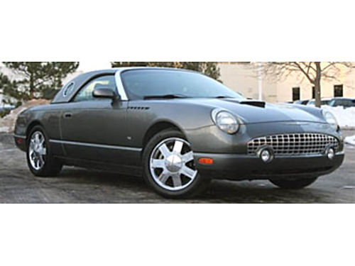 03 FORD THUNDERBIRD DELUXE Wow Only 81855 Miles Gently Used Remote Keyless Entry Leather Dual