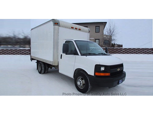 12 CHEVY EXPRESS CUTAWAY 3500 Commercial 159 WB 16 Ft Box Truck 60L V8 Supe