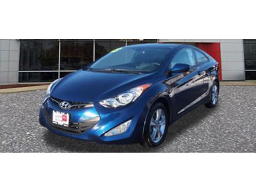 13 HYUNDAI ELANTRA GS CPE Auto Sporty Power Clean 866-393-8791 N1680075A 10999