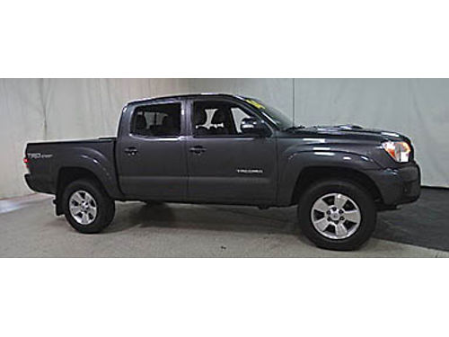 14 TOYOTA TACOMA DBLE CAB 4X4 Low Miles Sport Package V6 One Owner Toyota Certified 7 Yr100K W