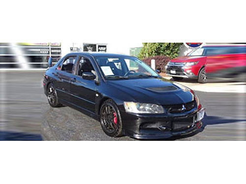 06 MITSUBISHI LANCER EVOLUTION IX Turbocharged Manual AWD Recaro Seats Premium Leather Premium Br