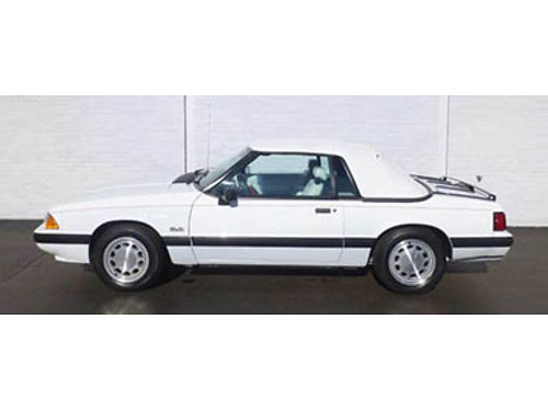 90 FORD MUSTANG 50 LX CONVT Classic Foxbody Only 50000 Miles Local Trade Low Low Low Price 86