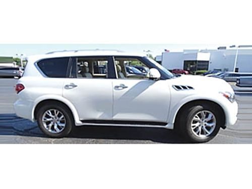 12 INFINITI QX56 4WD Low MIles Loaded Navi Heated Leather Moonroof Rear Entertainment Premium