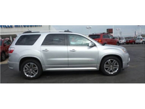11 GMC ACADIA DENALI AWD Low Miles Clean Carfax No Accidents Keyless Entry Leather Interior 3rd