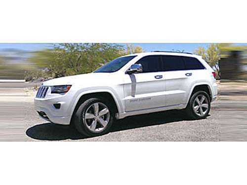 14 JEEP GRAND CHEROKEE OVERLAND 57L V8 4x4 Only 21400 Miles White On Gorgeous Black Heated Leat