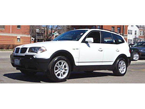 04 BMW X3 25I AWD White On Black Loaded Impressively Kept Priced To Sell 773-969-5700 M3070A