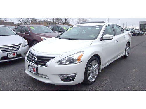 14 NISSAN ALTIMA 35SL Certified Luxury  Style Heated Leather Sunroof Back
