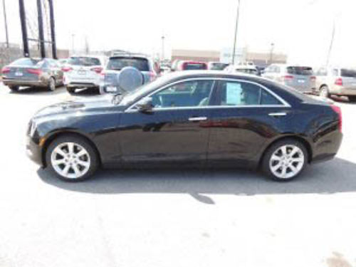 14 CADILLAC ATS 4 AWD Only 28K Miles Carfax 1 Owner Heated Leather CD Moonroof Alloys Black Be