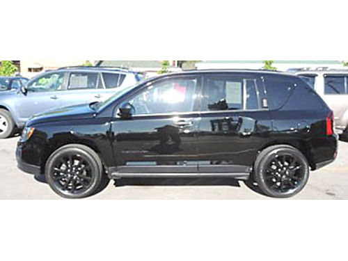 14 JEEP COMPASS ALTITUDE EDT Only 47000 Miles CarFax One Owner Black Beauty 866-383-7542 17593A