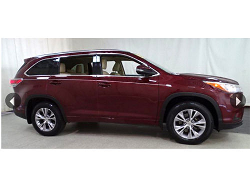 15 TOYOTA HIGHLANDER XLE AWD One Owner Navi 3rd Row Lther Roof Toyota Certified 7 Yr100K Warr