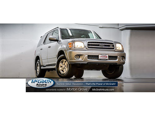 01 TOYOTA SEQUOIA LTD SPORT 4WD CarFax 1 Owner Leather Moonroof All Maintenan