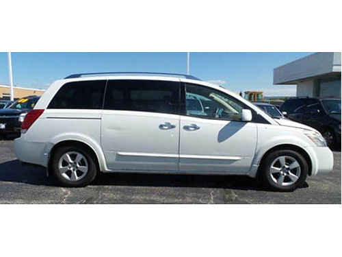 07 NISSAN QUEST Family Style And Comfort Power Options Local Trade Low Low Nissan Miles 866-399-
