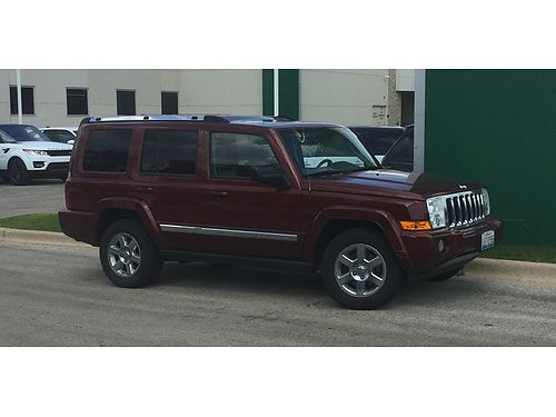 07 JEEP COMMANDER LTD V8 4X4 Low Miles Loaded Navigation Heated Leather Moon