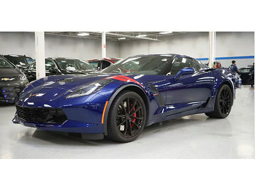 17 CHEVY CORVETTE GRAND SPORT Mint Condition Only 528 Miles 460HP V8 Leather Sirius XM Backup