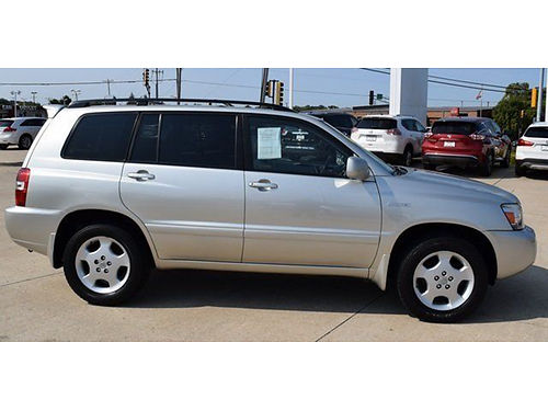 05 TOYOTA HIGHLANDER LTD 4WD One Owner 3rd Row Leather Flawless Non-Smoker 49680A 866-395-1539