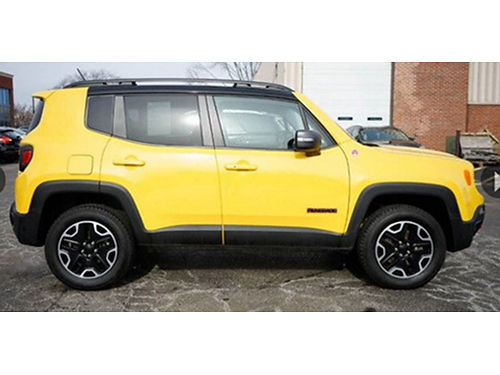 16 JEEP RENEGADE TRAILHAWK 4X4 Only 14028 Miles Remote Keyless Entry Bluetooth  Backup Camera G
