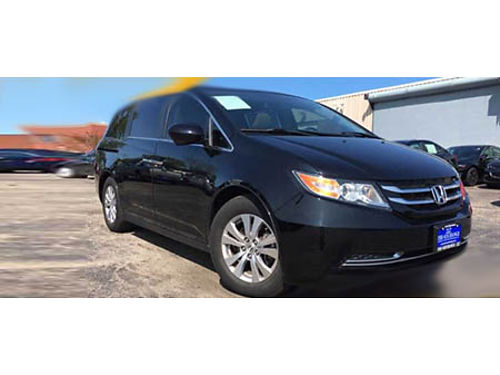 15 HONDA ODYSSEY EX-L Navigation Heated Leather Moonroof Dual Climate Control Bluetooth CD Per