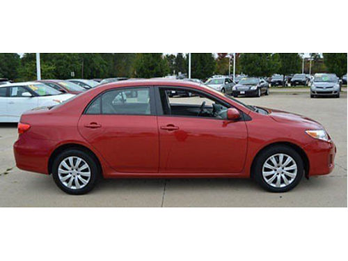 12 TOYOTA COROLLA LE Only 86000 Miles Local Trade Fully Serviced Low Low Price Call Fast 866-