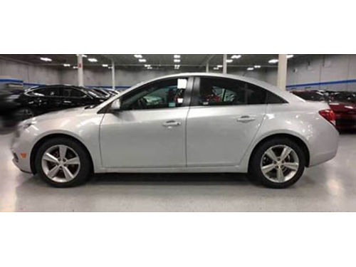 15 CHEVY CRUZE 2LT Leather Heated Seats CD Bluetooth  Great On Gas 866-695-2321 CP2584 12995
