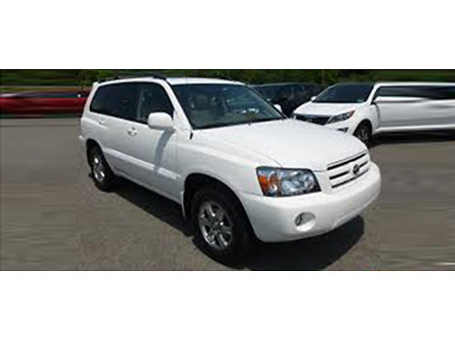 07 TOYOTA HIGHLANDER SPORT V6 Only 59000 Miles Fully Loaded Local Trade Flawless Free Powertrai