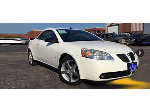 08 PONTIAC G6 GT CONVT Its Cold Now But Time Flies Be Ready Remote Keyless Entry CD And Priced