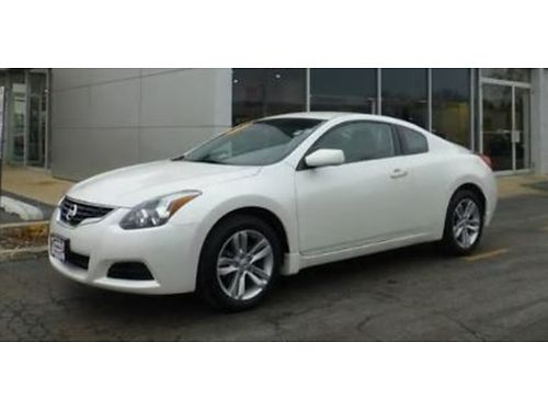 13 NISSAN ALTIMA 25S COUPE Only 60000 Miles White on Black Upgraded Rims Ha