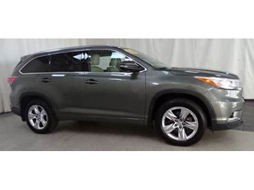 15 TOYOTA HIGHLANDER PLATINUM AWD Low Miles One Owner Navigation 3rd Row Leather Sunroof AWD