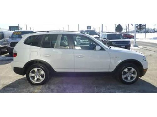 08 BMW X3 30SI Hard To Find Low Price Leather Luxury White On Black 866-490-5173 71381AA 5979