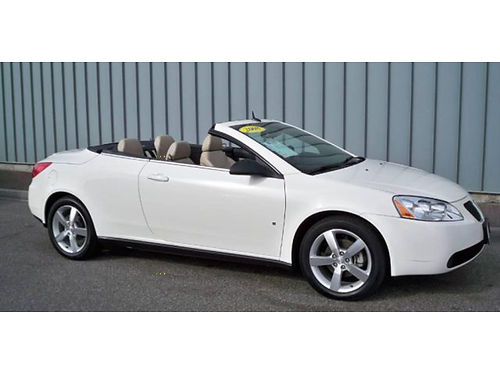08 PONTIAC G6 CONVERTIBLE One Owner Only 79000 Miles Retractable Hard Top Winter Season Sale 86