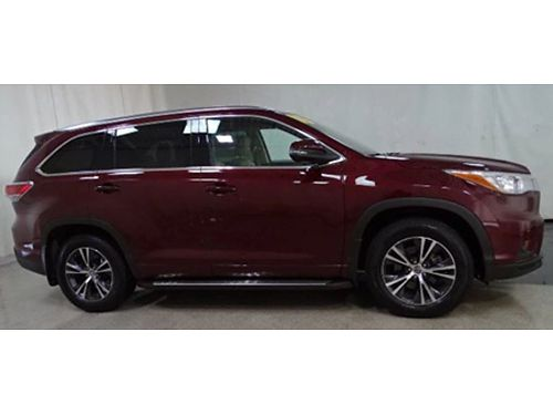 16 TOYOTA HIGHLANDER XLE AWD Only 21000 Miles 3rd Row Leather Moonroof Toyota Certified 7yr10