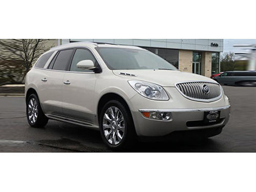 11 BUICK ENCLAVE CX-L 2 Navi Heated Leather Moonroof Rear View Camera XM Radio  A Clean CarFax