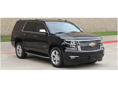 15 CHEVY TAHOE LTZ 53L V8 AWD Black On Black Low Miles HeatedCooled Leather 3rd Row Premium Au