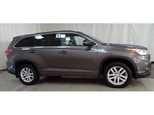 15 TOYOTA HIGHLANDER LE AWD Only 29k Miles 3rd Row One Owner Toyota Certified 7yr 100k Warranty