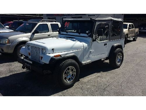 1991 JEEP WRANGLER 4X4 5 Speed Buy Here Pay Here No Credit Approved 866 216-2870 6990