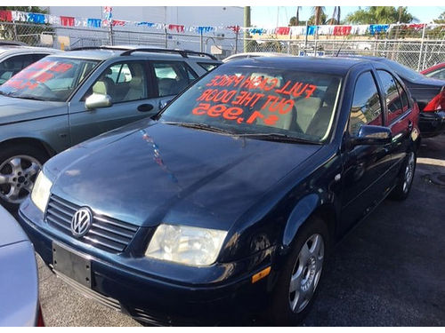 2002 VOLKSWAGEN JETTA AC Alloys Automatic Everyone Is Approved 888 634-6144 1995