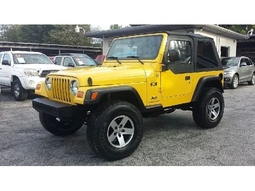 2004 JEEP WRANGLER 6 Speeds 4x4 Low Miles Buy Here Pay Here No Credit Approved 866 216-2870