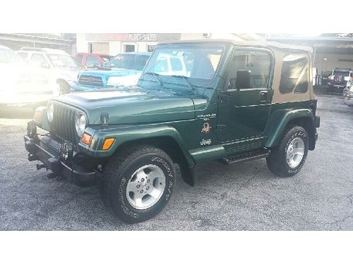 2001 JEEP WRANGLER SAHARA 4x4 Must See Buy Here Pay Here No Credit Approved 866 216-2870 9