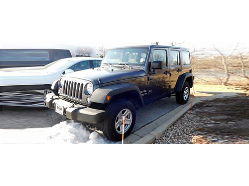 2016 JEEP WRANGLER UNLIMITED SPORT 4WD Perfect 1-Owner Carfax 3pc Freedom Hard Top Tow Pkg Deep