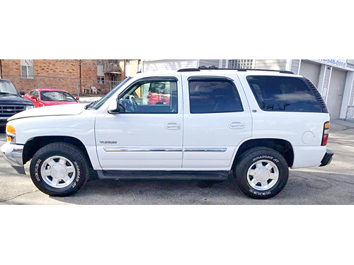 2004 GMC YUKON SLT 4WD 2-Owner With Clean AutoCheck Tow Package Leather Seats Moonroof Full Powe