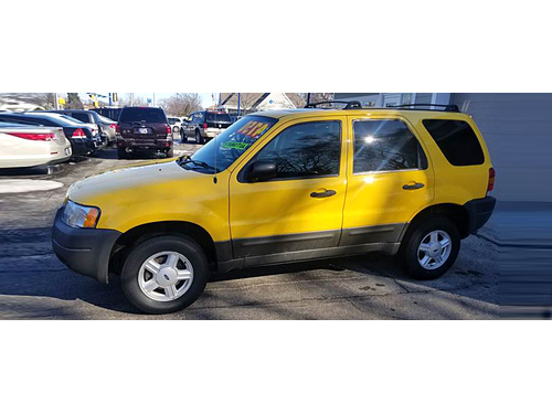 2003 FORD ESCAPE XLT 1-Owner With Just 97K Miles Clean AutoCheck 30L V6 Sunroof Keyless Entry