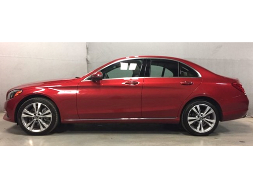 2018 MERCEDES C300 4MATIC Only 1 Local Owner W Perfect Carfax Only 9K Miles Back Up Camera Moonr