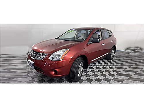 2013 NISSAN ROGUE S Outside Temp Disp MP3CD Keyless Entry Anit-Theft Technology Clean Cloth Sea