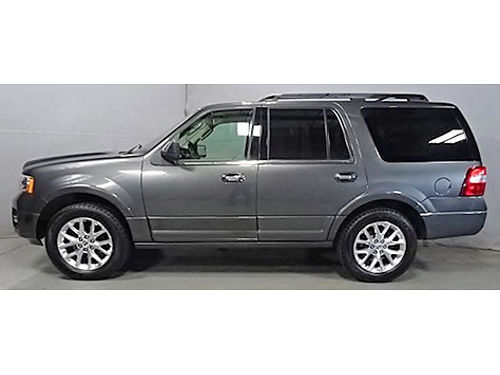 2015 FORD EXPEDITION LIMITED 4X4 Clean Carfax New Front  Rear Brakes Navi Heated Cooled Leather