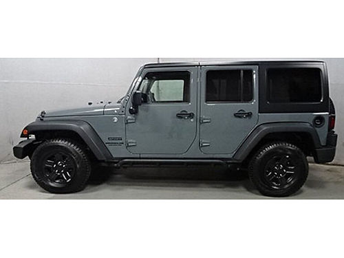 2015 JEEP WRANGLER UNLIMITED SPORT 4x4 5 Spd Automatic Great Miles Clean Carfax Side Steps Tow