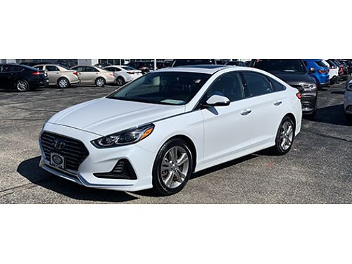 2018 HYUNDAI SONATA LIMITED Clean Carfax 1 Owner Low Miles BLIS Heated Leather HomeLink Moonro