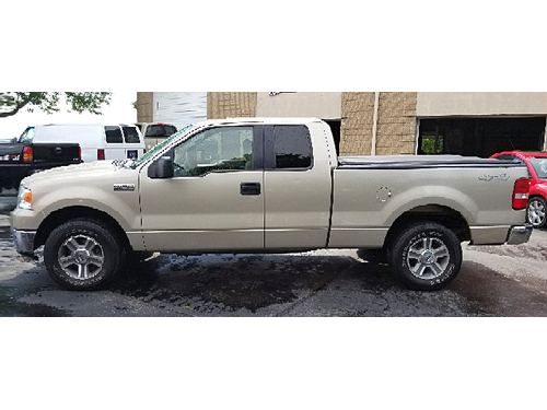 2008 FORD F150 XLT 4X4 2-Owner  Clean Carfax SuperCab V8 Tonneau Cover Tow Package Keyless Ent
