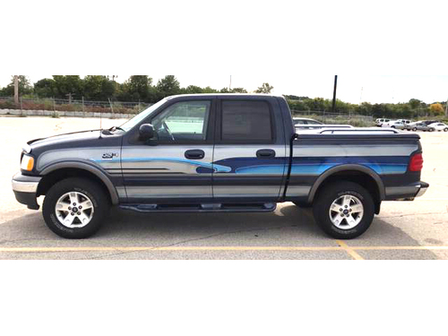 2003 FORD F150 XLT 4X4 Styleside SuperCrew 54L V8 Power Driver Seat Hard Tonneau Cover Tow Pkg