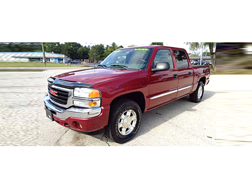 2005 GMC SIERRA SLE CREW CAB 4X4 2 TO CHOOSE Z71 Off Road Package V8 Tow Package Low Miles  Bot