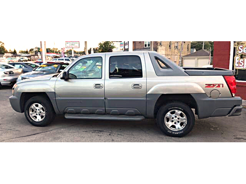 2002 CHEVROLET AVALANCHE 1500 4WD Z71 Pkg Leather Pwr Driver Seat Keyless Ent